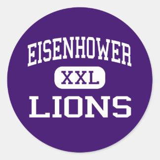 Eisenhower - Lions - High - New Berlin Wisconsin Round Sticker