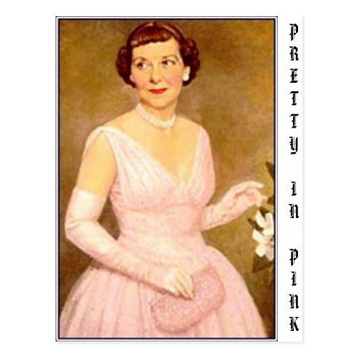 eisenhower mamie, PRETTY IN PINK Postcards