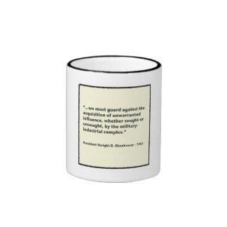 Eisenhower Military-Industrial Complex Speech Ringer Coffee Mug