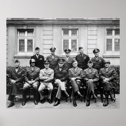 Eisenhower, Patton, Bradley, et. al. print