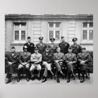 Eisenhower, Patton, Bradley, y otros Póster