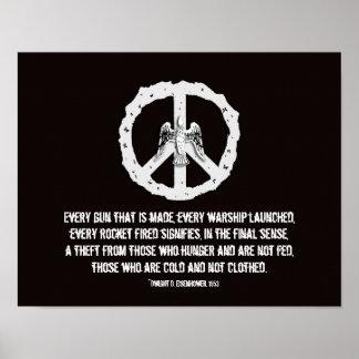 Eisenhower Quotation Peace Poster Print