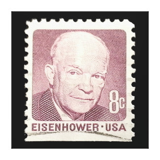 Eisenhower Stamp Stretched Canvas Prints