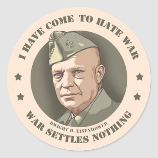 Eisenhower -War Classic Round Sticker