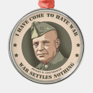 Eisenhower -War Metal Ornament