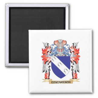 Eisenreich Coat of Arms - Family Crest 2 Inch Square Magnet