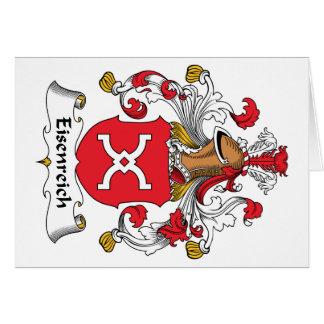Eisenreich Family Crest Card
