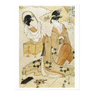 Eishi Kiyomori's Daughter Painting 1790 Art Prints Postcard