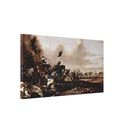 Eismann Johann Anton - The Battle Canvas Print