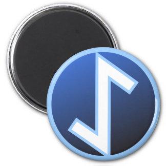 Eiwaz Yew Rune 2 Inch Round Magnet