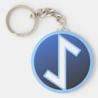 Eiwaz Yew Rune Basic Round Button Keychain