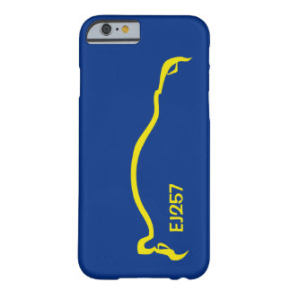 """""""EJ257"""" STI Blue / Yellow Silhouette Barely There iPhone 6 Case"""