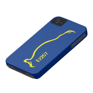 """EJ257"" STI  Blue / Yellow Silhouette iPhone 4 Case-Mate Case"