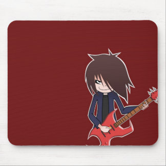 eje de balancín con la guitarra roja mouse pad