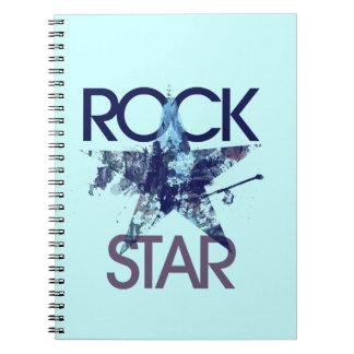 Eje de balancín del azul de la estrella del rock libros de apuntes