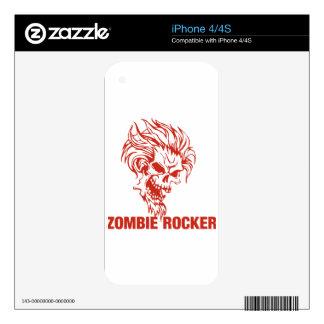 Eje de balancín del zombi - Roca-N-Rollo iPhone 4S Calcomanías