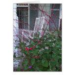 Eje de balancín floral del jardín y del pórtico, a tarjetón