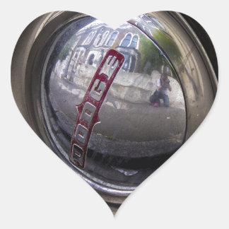 Eje de Dodge Pegatina En Forma De Corazón