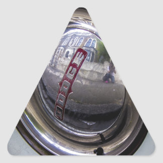 Eje de Dodge Pegatina Triangular