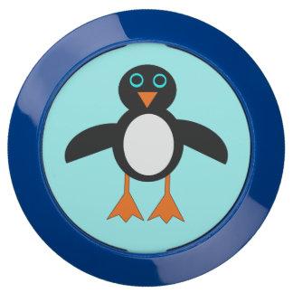 Eje lindo de la carga del pingüino