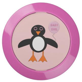Eje rosado lindo de la carga del pingüino de la