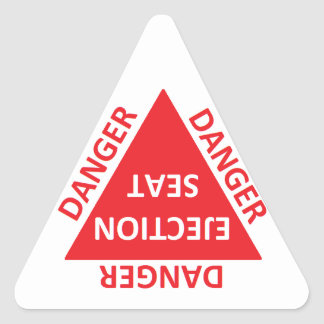 ejection seat caution sticker