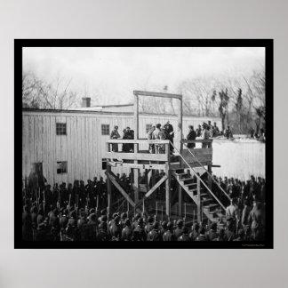Ejecución de capitán Henry Wirz 1865 Impresiones