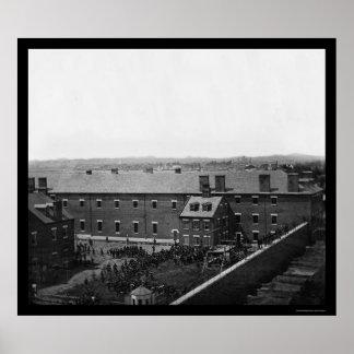 Ejecución de los conspiradores 1865 de Lincoln Impresiones