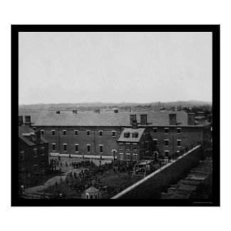 Ejecución de los conspiradores 1865 de Lincoln Póster