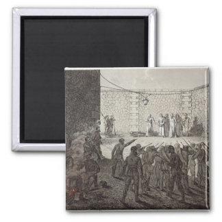 Ejecución de rehenes durante la comuna, 1871 iman de frigorífico
