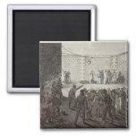 Ejecución de rehenes durante la comuna, 1871 imán cuadrado
