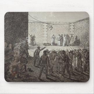 Ejecución de rehenes durante la comuna, 1871 alfombrilla de raton