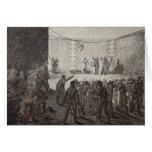 Ejecución de rehenes durante la comuna, 1871 tarjeta de felicitación
