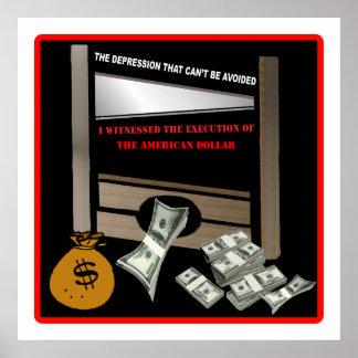 Ejecución del poster americano del dólar