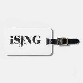 ejecutante del micrófono del iSING Etiquetas Maletas