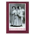 Ejecutantes de circo de Josefa y de Rosa en tarjet