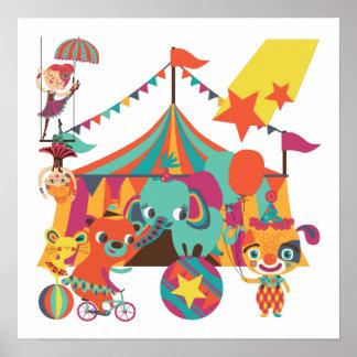 Ejecutantes de circo póster