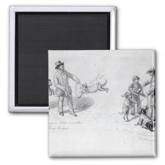 Ejecutantes de la calle, c.1839-43 imán cuadrado