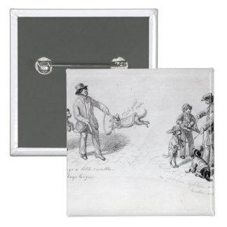 Ejecutantes de la calle, c.1839-43 pin cuadrado