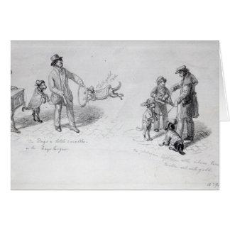 Ejecutantes de la calle, c.1839-43 felicitación
