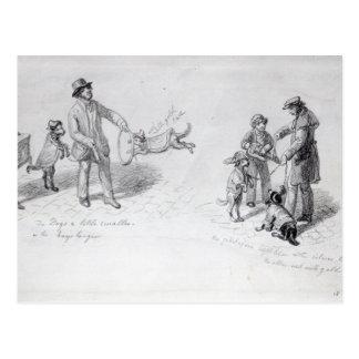 Ejecutantes de la calle, c.1839-43 tarjetas postales