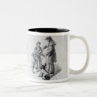 Ejecutantes de la calle, c.1839-43 taza de dos tonos