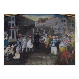 Ejecutantes de la calle en el carnaval Populaire Tarjetas