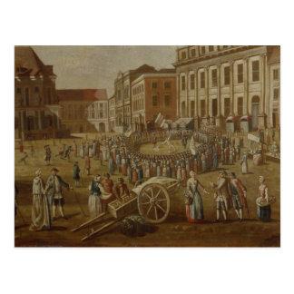 Ejecutantes de la calle en la alteración Markt, 17 Postales