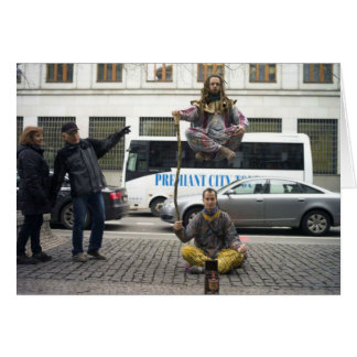Ejecutantes de la calle tarjetón