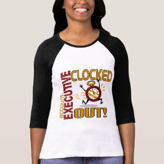 Ejecutivo de cuenta registrado hacia fuera camisetas