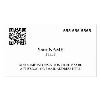 Ejecutivo de encargo del código de QR Tarjetas De Visita