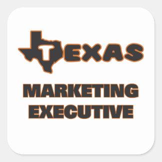 Ejecutivo de marketing de Tejas Pegatina Cuadrada