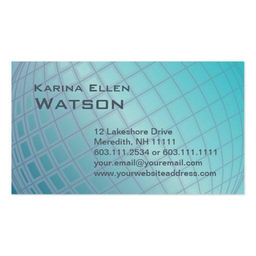 Ejecutivo elegante de la mujer internacional del g plantilla de tarjeta de negocio