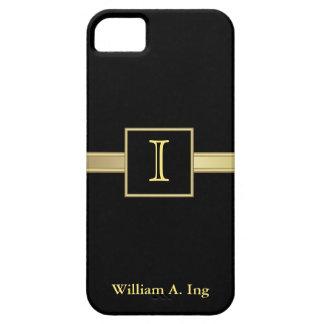 Ejecutivo masculino del monograma iPhone 5 Case-Mate protector